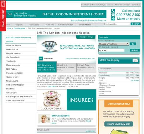 BMI The London Independent Hospital