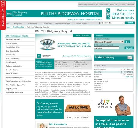BMI The Ridgeway Hospital